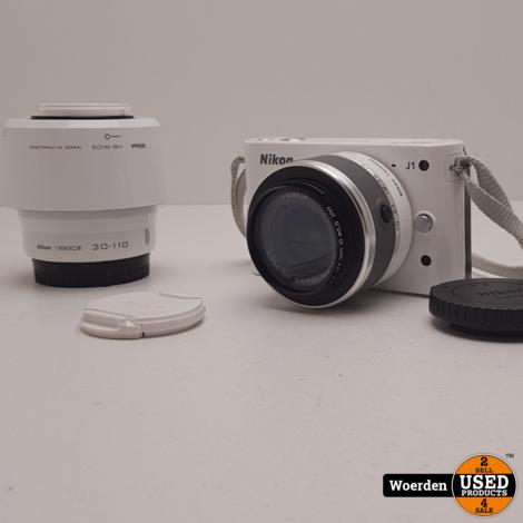 Nikon J1 incl. 10-30 mm + 30-110 mm Wit ZGAN met Garantie
