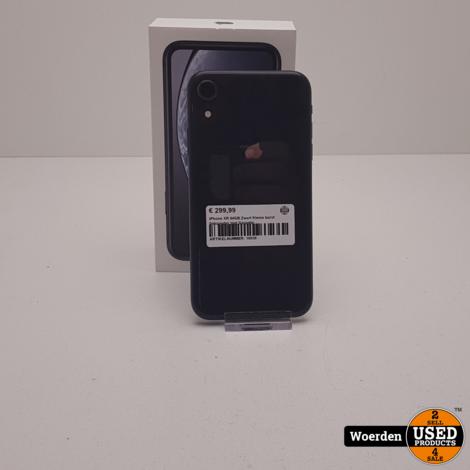 iPhone XR 64GB Zwart Kleine barst linksonder met Garantie