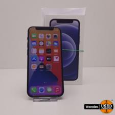 iPhone 12 Mini 128GB Zwart 1 Maand Oud + BON met Garantie