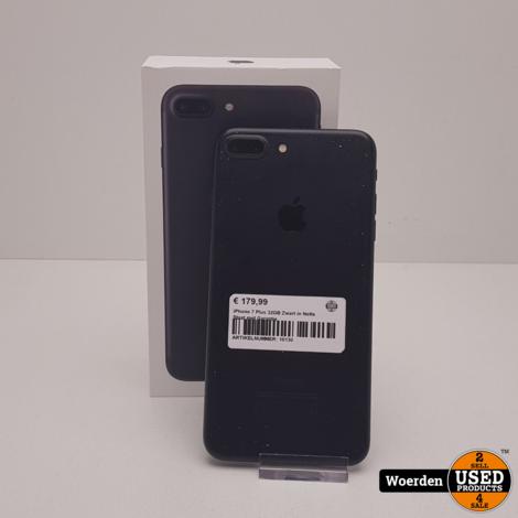 iPhone 7 Plus 32GB Zwart in Nette Staat met Garantie