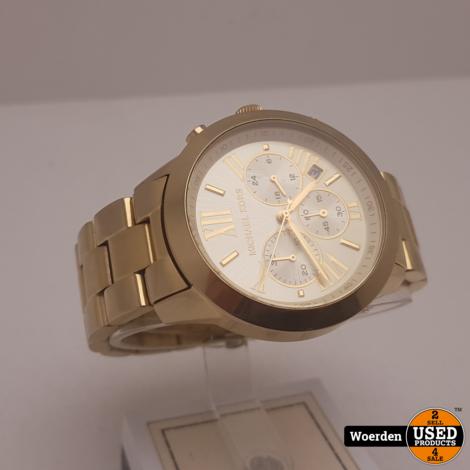 Michael Kors MK5777 Horloge Goud Nette Staat met Garantie