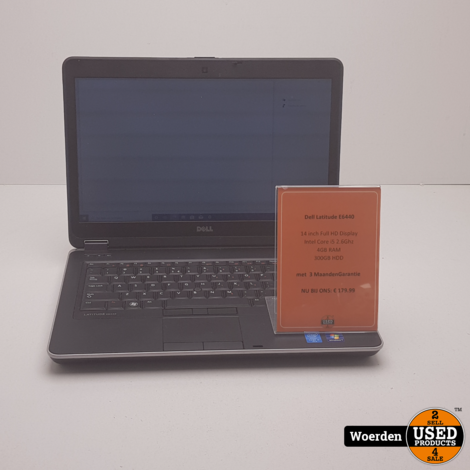 Dell Latitude E6440 i5 2.7Ghz 4GB 300GB met Garantie