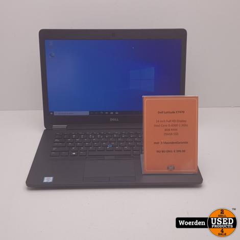 Dell Latitude E7470 i5 2.4Ghz 8GB 256GBSSD met Garantie