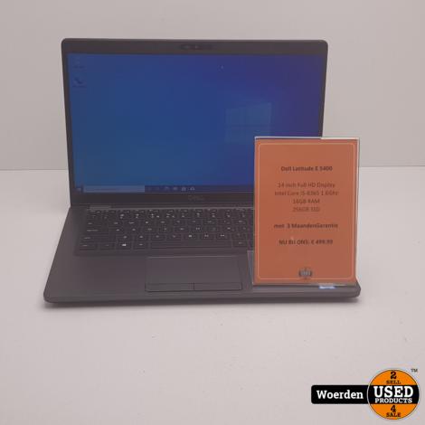Dell Latitude 5400 i5 1.6Ghz|16GB|256GBSSD met Garantie