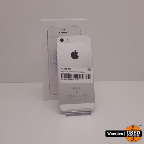 iPhone SE 64GB Zilver Nette Staat met Garantie
