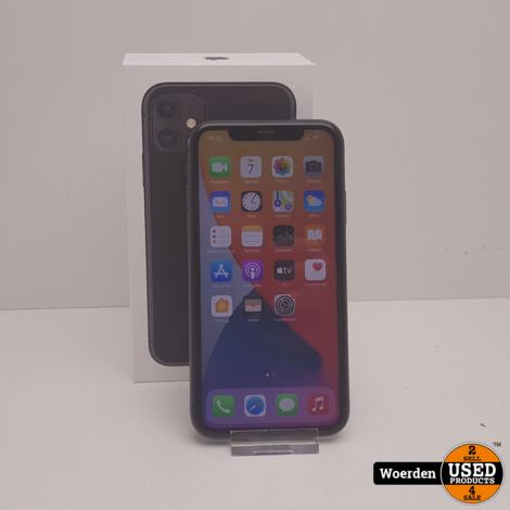 iPhone 11 64GB Zwart Accu 96% Nette Staat met Garantie