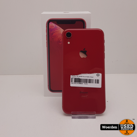iPhone XR 64GB Rood Nette Staat met Garantie