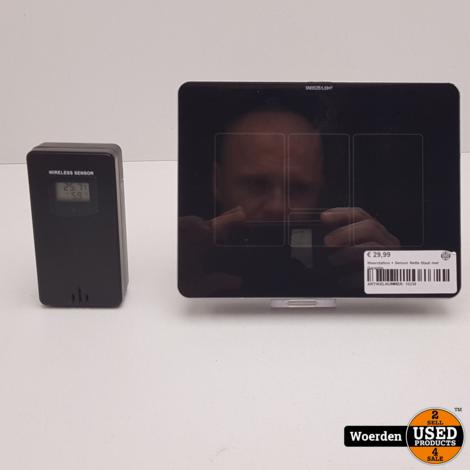 Weerstation + Sensor Nette Staat met Garantie