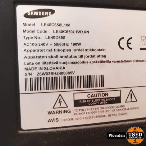 Samsung LE40C650L1W 40 inch Full HD incl AB met Garantie