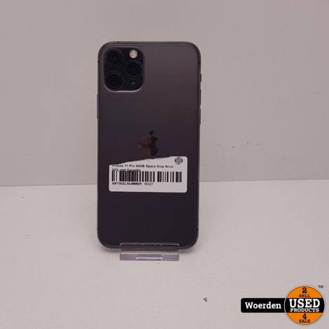 iPhone 11 Pro 64GB Space Gray Accu 93% met Garantie