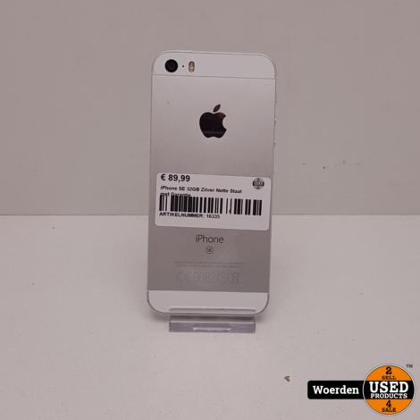 iPhone SE 32GB Zilver Nette Staat met Garantie