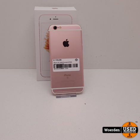 iPhone 6S 16GB Rosegoud Nette Staat met Garantie