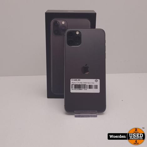 iPhone 11 Pro Max 256Gb Space Grey Nette staat met Garantie