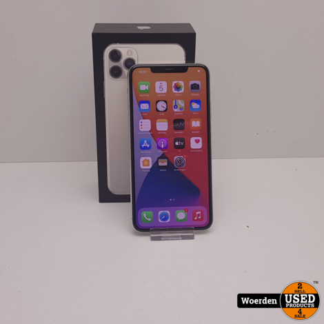 iPhone 11 Pro Max 64Gb Silver Nette Staat met Garantie