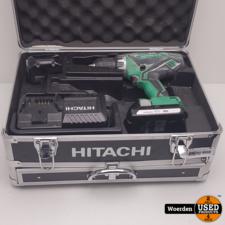 Hitachi DS18DJL Boormachine + 2 accus 18V 1.5Ah in Kist