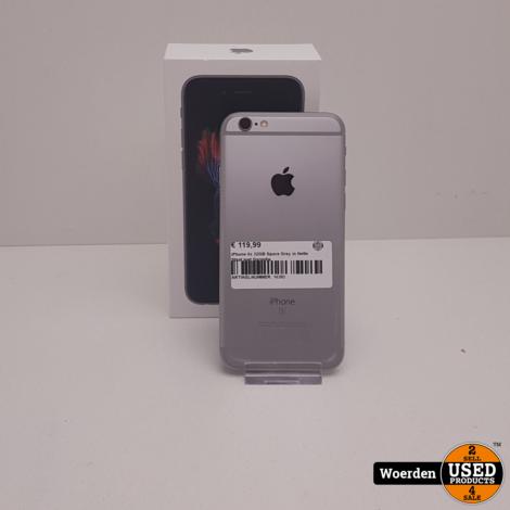 iPhone 6S 32GB Space Gray in Nette Staat met Garantie