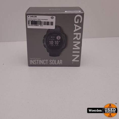 Garmin Instinct Solar smartwatch Grijs NIEUW in DOOS