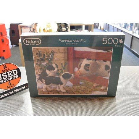 Falcon deluxe Puppies & Pigs Puzzle 500 pc | Nieuw