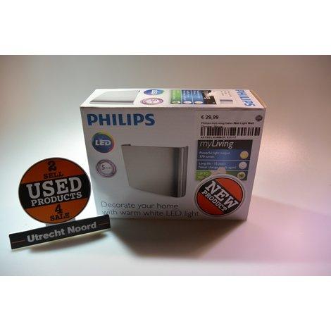 Philips MyLiving Galax Wall Light Matt Chrome | Nieuw