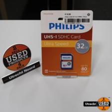 Philips 32GB SD Kaart 80MB/s | Nieuw