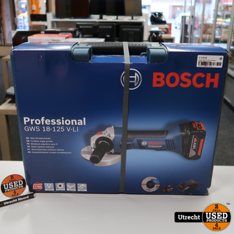 Bosch GWS 18-125 V-LI Haakse Slijper   Nieuw in Koffer