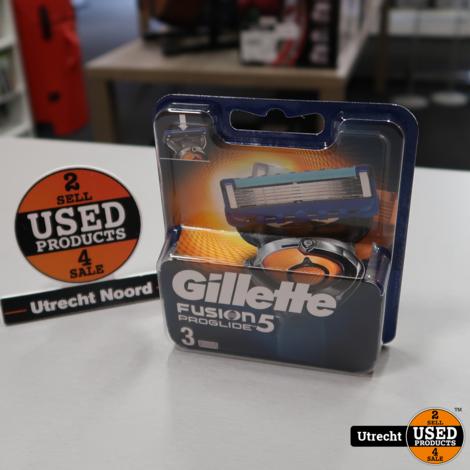 Gillette Fusion 5 Proglide Scheermesjes 3-Pack | Nieuw