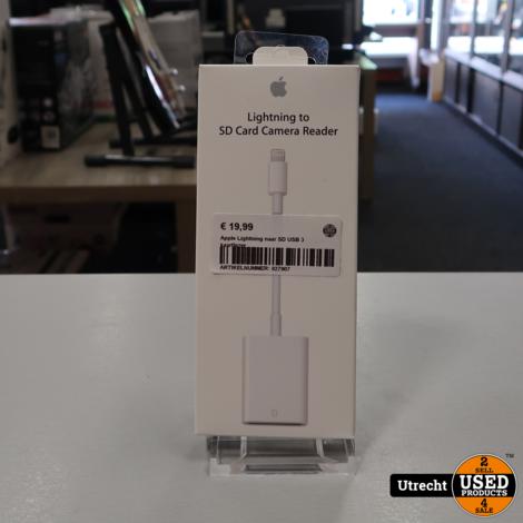 Apple Lightning naar SD USB 3 kaartlezer