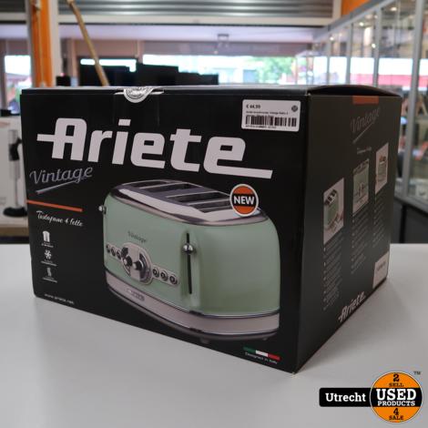 Ariete broodrooster Vintage Retro 4 sleuven | Nieuw in Doos