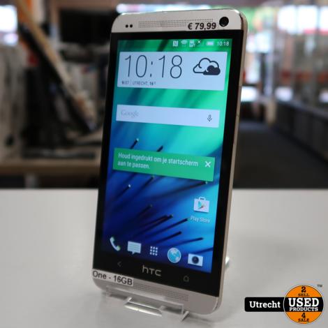 HTC One 16GB Silver | in Redelijke Staat