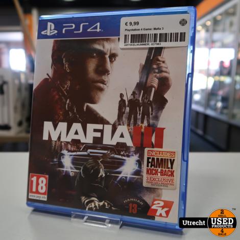 Playstation 4 Game: Mafia 3