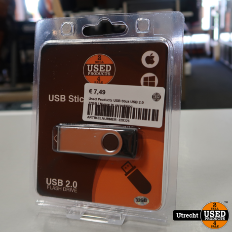 Used Products USB Stick USB 2.0 32GB | Nieuw in verpakking