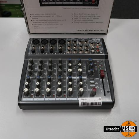 Phonic MU1202X 4-Kanaals Mixer | in Goede Staat