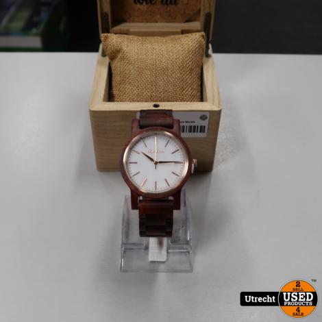 Holzkern Winter Day Padauk Marble Horloge | Nieuw in Doos
