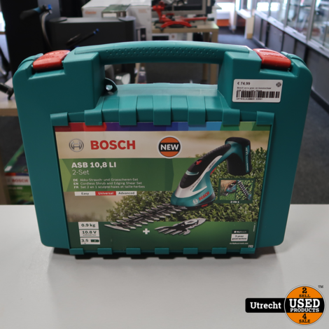 Bosch ASB 10.8 Li 2-Set Gras en Buxusschaar | Nieuw