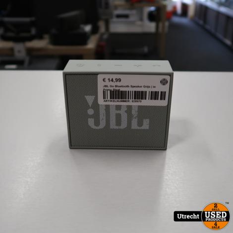 JBL Go Bluetooth Speaker Grijs   in Prima Staat