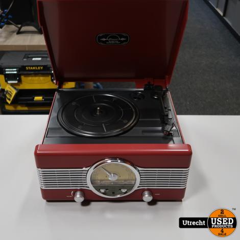 Axxion Classic Phono FT-29 Retro Platenspeler met FM/AM Radio