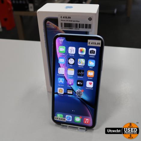iPhone XR 64GB light Blue   in Nette Staat