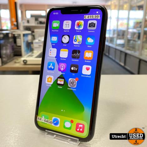 iPhone XR 64GB Black | Prima staat