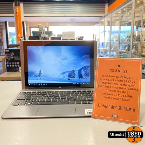 HP X2 210 G1 Intel Atom/4GB/64GB eMMC WIn 10 Pro