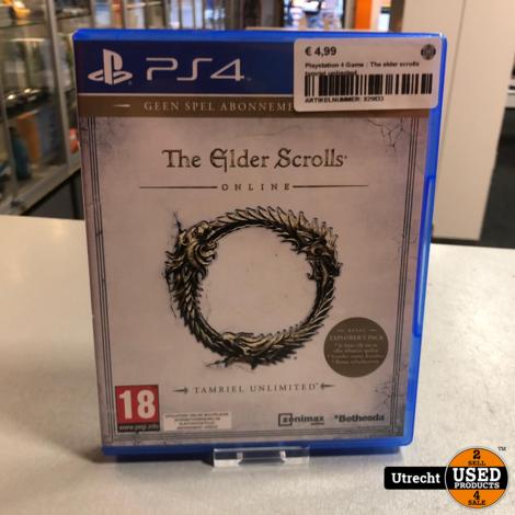 Playstation 4 Game : The elder scrolls tamriel unlimited