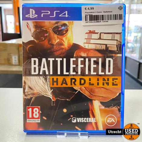 Playstation 4 Game : Battlefield Hardline