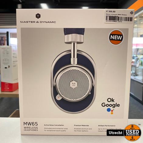 Master & Dynamic MW65 Wireless Headphones Nieuw
