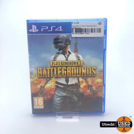 Playstation 4 Game: Playerunkown's Battleground
