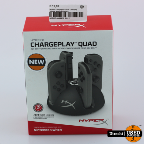 Hyperx Chargeplay Quad Charging Station Nintendo Switch