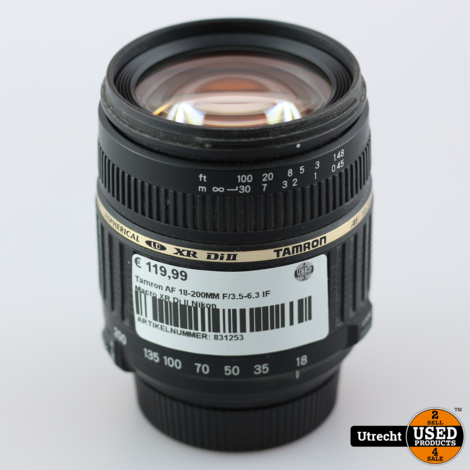 Tamron AF 18-200MM F/3.5-6.3 IF Macro XR Di II Nikon