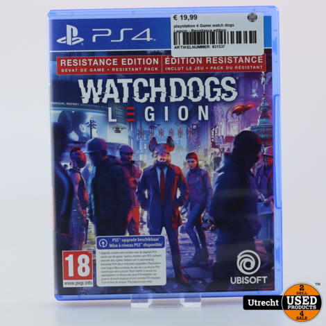 Playstation 4 Game:Watch Dogs Legion  Resistance edition