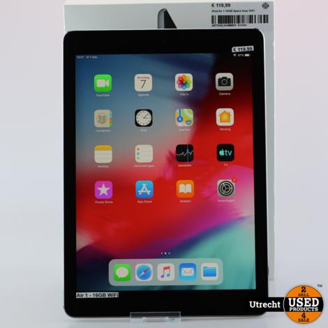 iPad Air 1 16GB Space Gray WiFi