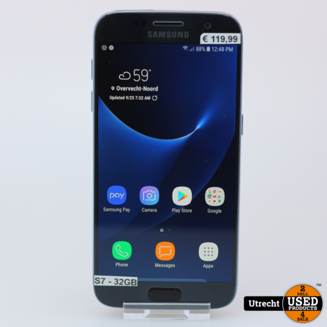 Samsung Galaxy S7 32GB Zwart Enkel Engelstalig Menu