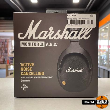 Marshall Monitor II ANC Koptelefoon Zwart Bluetooth