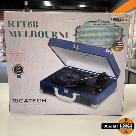 Ricatech RTT68 Melbourne Navy Blue platenspeler Nieuw